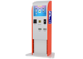 Bills / Coins / Cards Accepted Touch Screen Stand Kiosk untuk Pembayaran Parkir Indoor