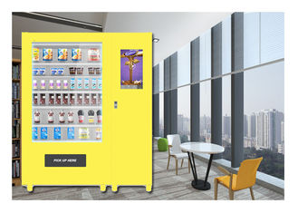 Customize Glass Bottle Drink Snack Vending Machine Dengan Layar Sentuh Besar