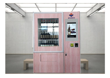 Cina Remote Stock Monitor Wine Dispenser Beer Vending Machine Dengan Fungsi Periklanan pabrik