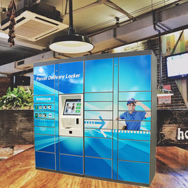 Express Delivered Parcel Locker Package Pick Up Station Dengan Finger Print Reader