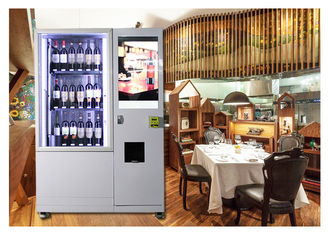 Cerdas Mini Fresh Salad Wine Glass Bottle Vending Machines Dengan Sistem Lift Dan Conveyor