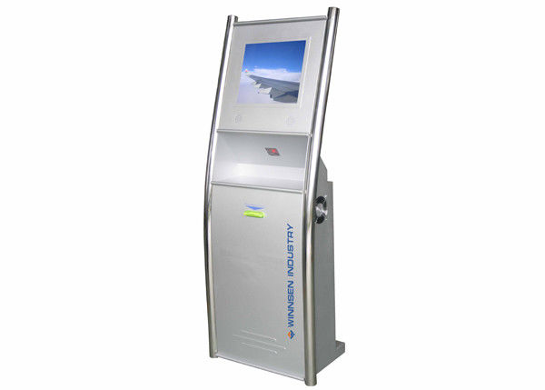 Barcode Scanner LCD Digital Signage, Library Self Service Solusi Touchscreen Interaktif pemasok