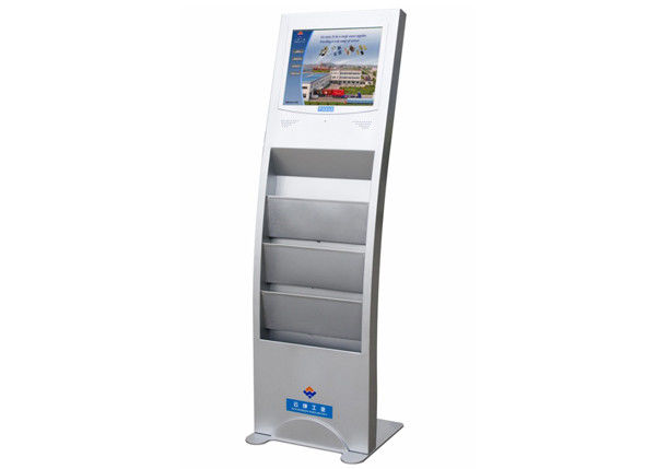 Advertising Display LCD Digital Signage with Brochure Holder FCC / CE / RoHS