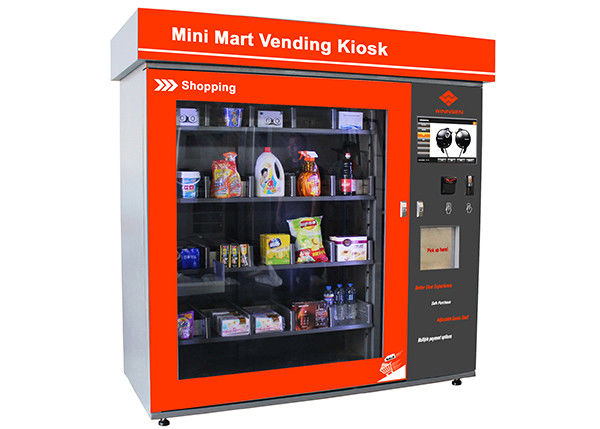 Layar Sentuh Mini Mart Vending Machine Business Station Automated Retail Coin / Bill / Card Dioperasikan pemasok