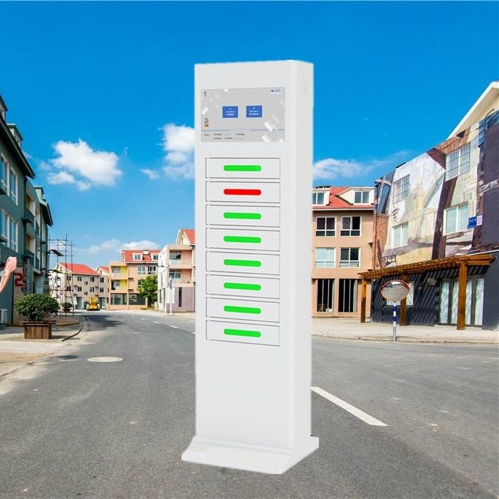 Electric Type Mobile Phone Charging Station Signal Advertising Locker