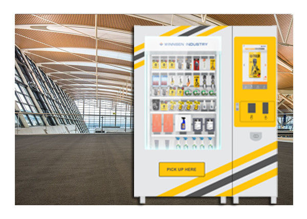 Adjustable Vending Kiosks , Box Tool Vending Machine With Belt And Hooks System