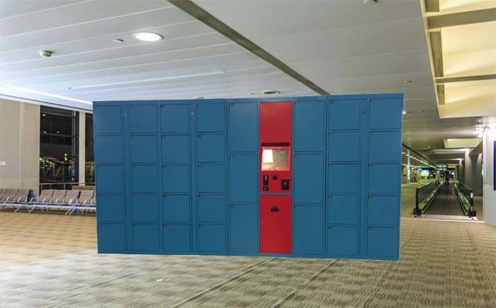 Smart Parcel Delivery Lockers With Security Camera And Remote Control Free Use