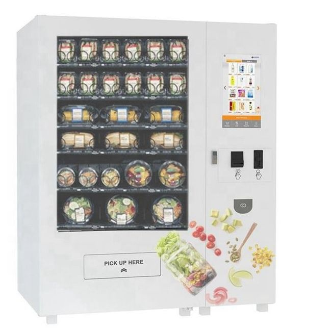 Chilled Robotic Vending Machine For Nutrition Fruit / Vegetable / Cupcake / Sandwich