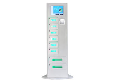 Cell Phone Recharge Station dengan LCD Touch Screen, 8 Lockers Battery Charging Stations Kiosk